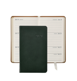 Graphic Image Graphic Image 2021 Green Traditional Leather 5'' Personal Pocket Journal
