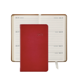 Graphic Image Graphic Image 2021 Red Traditional Leather 5'' Personal Pocket Journal