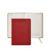 Graphic Image Graphic Image 2021 Red Traditional Leather 5X7 Weekly Journal
