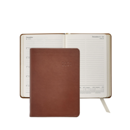 Graphic Image Graphic Image 2021 Maple Traditional Leather 5X7 Weekly Journal