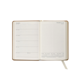 Graphic Image Graphic Image 2021 British Tan Traditional Leather 5X7 Weekly Journal