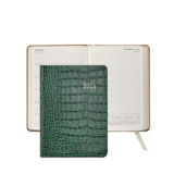 Graphic Image Graphic Image 2021 Emerald Crocodile Print Leather 5X7 Weekly Journal