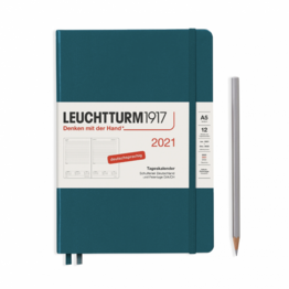 Leuchtturm1917 Leuchtturm1917 2021 Pacific Green Daily Planner Medium (A5)