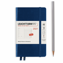 Leuchtturm1917 Leuchtturm1917 2021 Navy Weekly Planner & Notebook Pocket (A6) with Extra Booklet