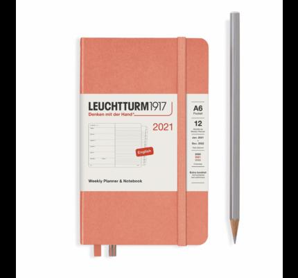 Leuchtturm1917 Leuchtturm1917 2021 Bellini Weekly Planner & Notebook Pocket (A6) with Extra Booklet