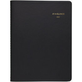 At-A-Glance 2021 70-950-05 Weekly Appointment Calendar 8.5x11 Black