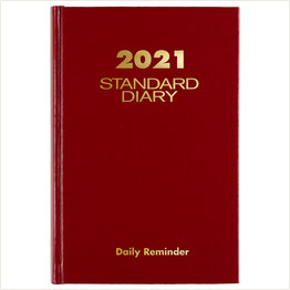 At-A-Glance 2021 SD387-13 Red Standard Diary 5x7.5
