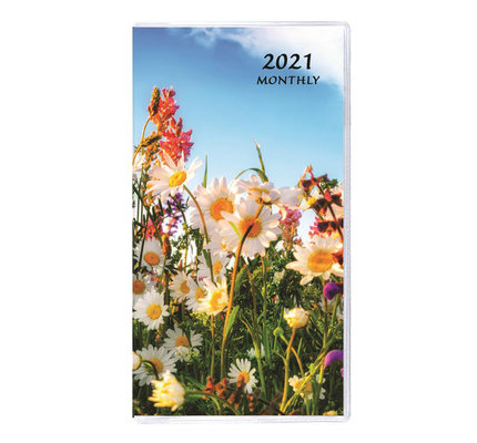 Payne 2021 MB-12 Monthly Pocket Planner Floral Horizontal (3.5x6.5) - Wildflowers