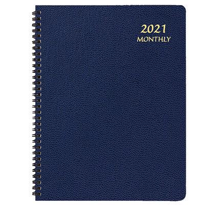 Payne 2021 Skivertex Monthly Planner (8.5x11) - Blue