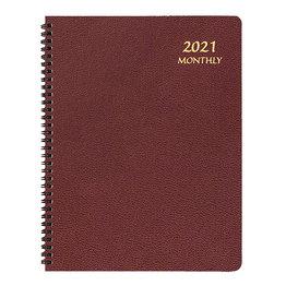 Payne 2021 Skivertex Monthly Planner (8.5x11) - Burgundy