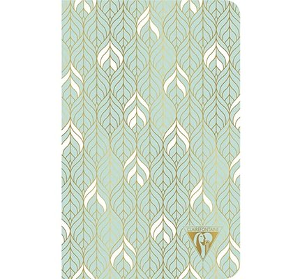 Clairefontaine Clairefontaine #193336 Neo Deco Neo Sea Green Lined Notebook 6 x 8.25