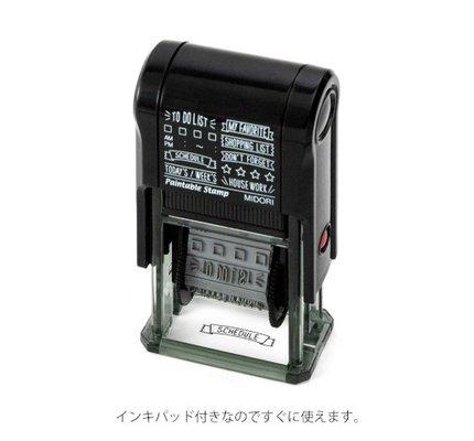 Midori Paintable Stamp - List