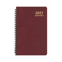 Payne 2021 MBL-22 Monthly Large Print Planner (5.5x8.5) Burgundy