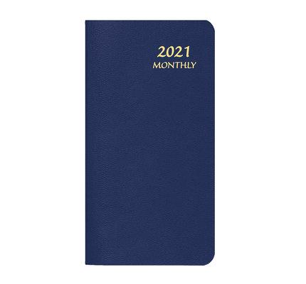 Payne 2021 MBU-11 Skivertex Pocket Monthly Planner Upright (3.5x6.5) Blue