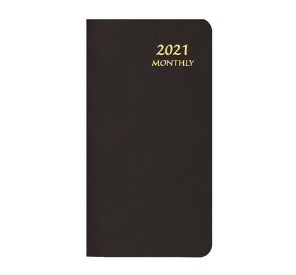 Payne 2021 MBU-11 Skivertex Pocket Monthly Planner Upright (3.5x6.5) Black