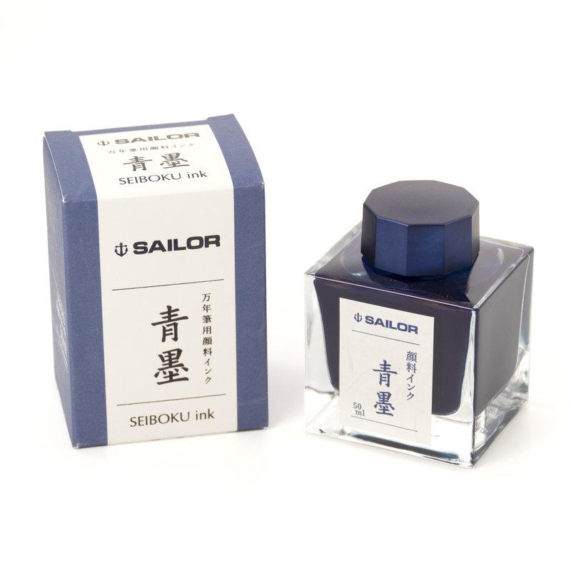 Sailor Sailor Seiboku Blue Black Pigment Bottled Ink