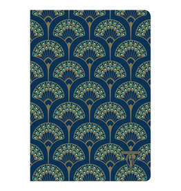 Clairefontaine Clairefontaine #192236 Neo Deco Peacock Lined Notebook 6 x 8.25