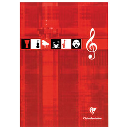 Clairefontaine Clairefontaine #6157 Music Top Glued Notepad 8.25 x 11.75 (Assorted)