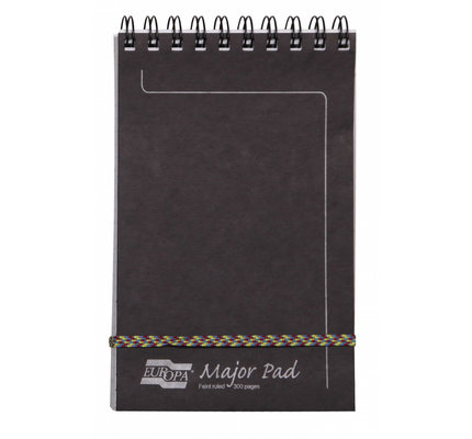 Clairefontaine Clairefontaine #4611Z Europa Major Lined Black Notepad 5 x 8.125
