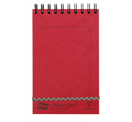 Clairefontaine Clairefontaine #4613Z Europa Major Lined Red Notepad 5 x 8.125