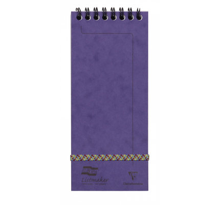Clairefontaine Clairefontaine #482/1113Z Europa Listmaker Lined Violet Notepad 3 x 7