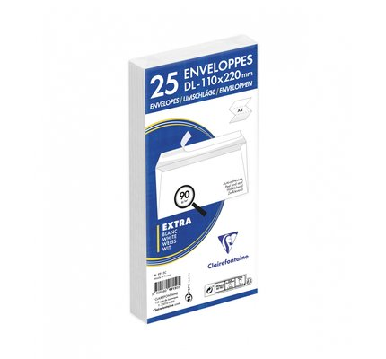 Clairefontaine Clairefontaine #9915 Self-Sealing Tissue Lined Envelopes 4.375 x 8.625 (25 ea)