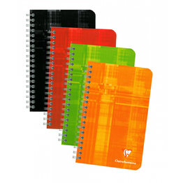 Clairefontaine Clairefontaine #8606 Ruled Wirebound Notebook 4.25 x 6.75 (Assorted)