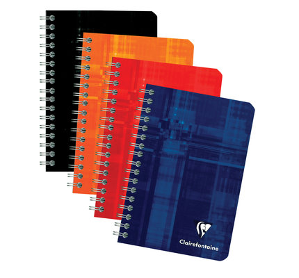 Clairefontaine Clairefontaine #8506 Classic Ruled Wirebound Notebook 3.5 x 5.5 90 Sheets (Assorted)