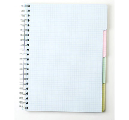 Clairefontaine Clairefontaine #8139 Multi-Subject Graph Wirebound Notebook 4 Tabs and 112 Sheets 8.25 x 11.75 (Assorted)