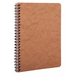 Clairefontaine Clairefontaine #78566 Life Unplugged Ruled with Pockets Wirebound Notebook Tan 6 x 8.25