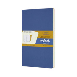 Moleskine Moleskine Volant Journals Ruled X-Small Forget Me Not Blue /Amber Yellow Ruled (Set of 2)