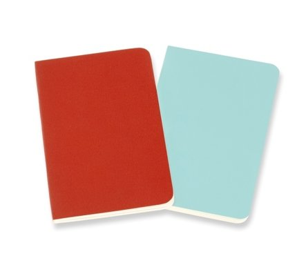 Moleskine Moleskine Volant Journals X-Small Coral Orange/Aquamarine Blue Ruled