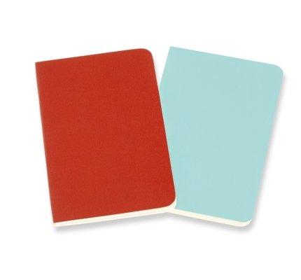 Moleskine Moleskine Volant Journals X-Small Coral Orange/Aquamarine Blue Ruled