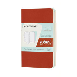 Moleskine Moleskine Volant Journals X-Small Coral Orange/Aquamarine Blue Plain