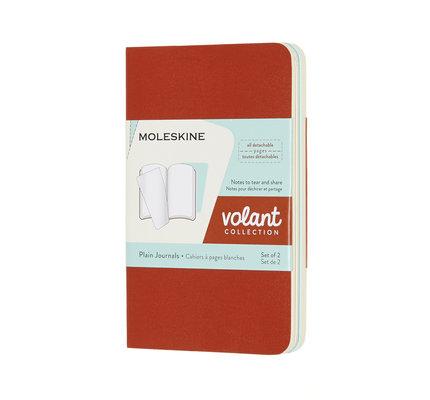 Moleskine Moleskine Volant Journals X-Small Coral Orange/Aquamarine Blue Plain