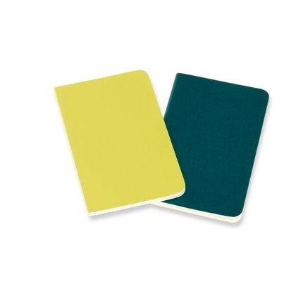Moleskine Moleskine Volant Journals Pocket Soft Cover Pine Green/Lemon Yellow Ruled (Set of 2)