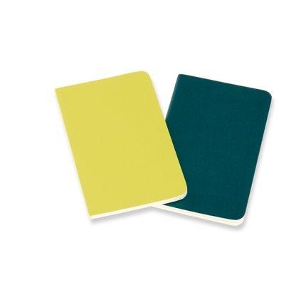 Moleskine Moleskine Volant Journals Pocket Soft Cover Pine Green/Lemon Yellow Ruled (Set of 2)
