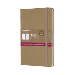 Moleskine Moleskine Two-Go Notebook Medium Kraft Brown Mixed Ruled and Plain