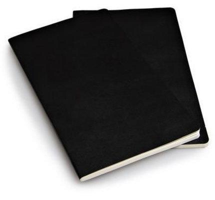 Moleskine Moleskine Volant Journals Large Softcover Notebook Black Ruled (Set of 2)