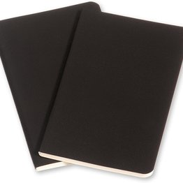 Moleskine Moleskine Volant Journals Large Softcover Notebook Black Plain (Set of 2) (Discontinued)