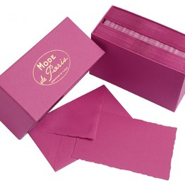 G. Lalo Mode de Paris Box Card & Envelope Raspberry
