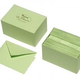 G. Lalo Mode de Paris Box Card & Envelope Pistachio