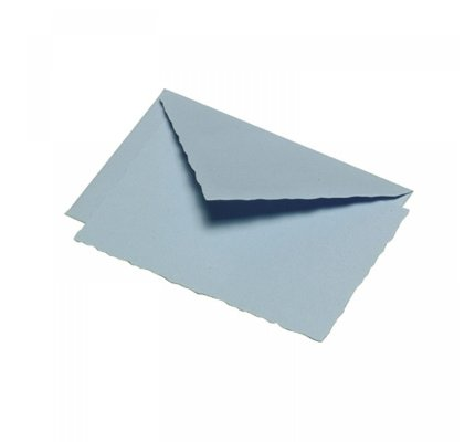 G. Lalo Deckle Edge Card & Envelope Blue