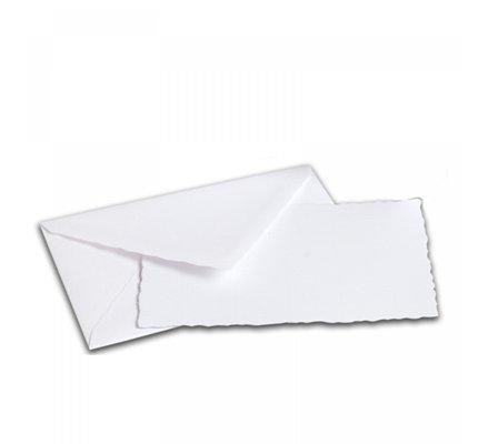 G. Lalo Deckle Edge Card & Envelope White