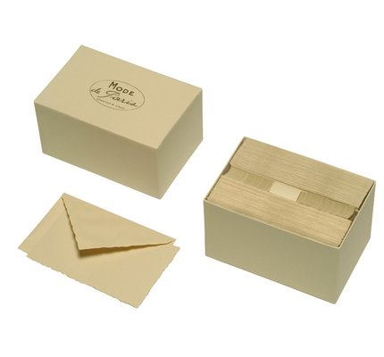 G. Lalo Mode de Paris Box Card & Envelope Champagne
