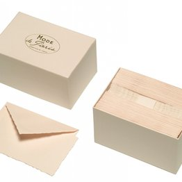 G. Lalo Mode de Paris Box Card & Envelope Rose