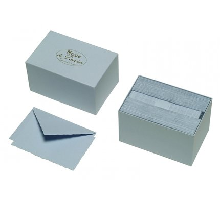 G. Lalo Mode de Paris Box Card & Envelope Blue