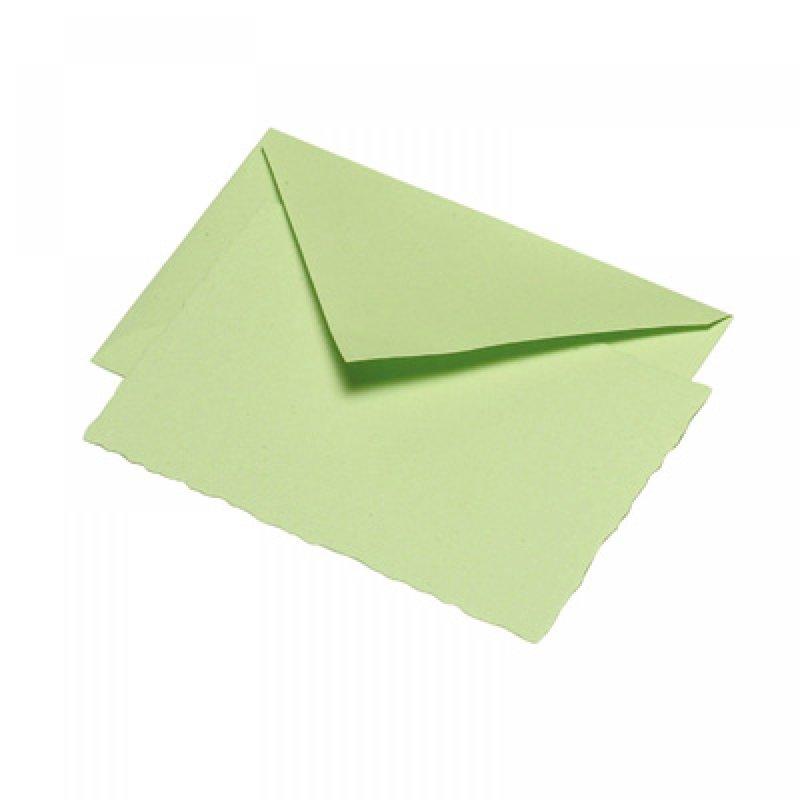 G. Lalo Deckle Edge Card & Envelope Pistachio