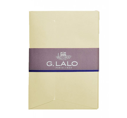 G. Lalo 25 Lined Envelopes A6 Ivory