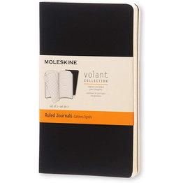 Moleskine Moleskine Volant Journals Pocket Softcover Journal Black Ruled (Set of 2)